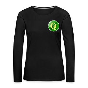 Women's longsleeve with QGIS logo on the front - Women's Premium Longsleeve Shirt