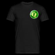 T-Shirts ~ Men's T-Shirt ~ Men's T-shirt with QGIS logo on the front & back