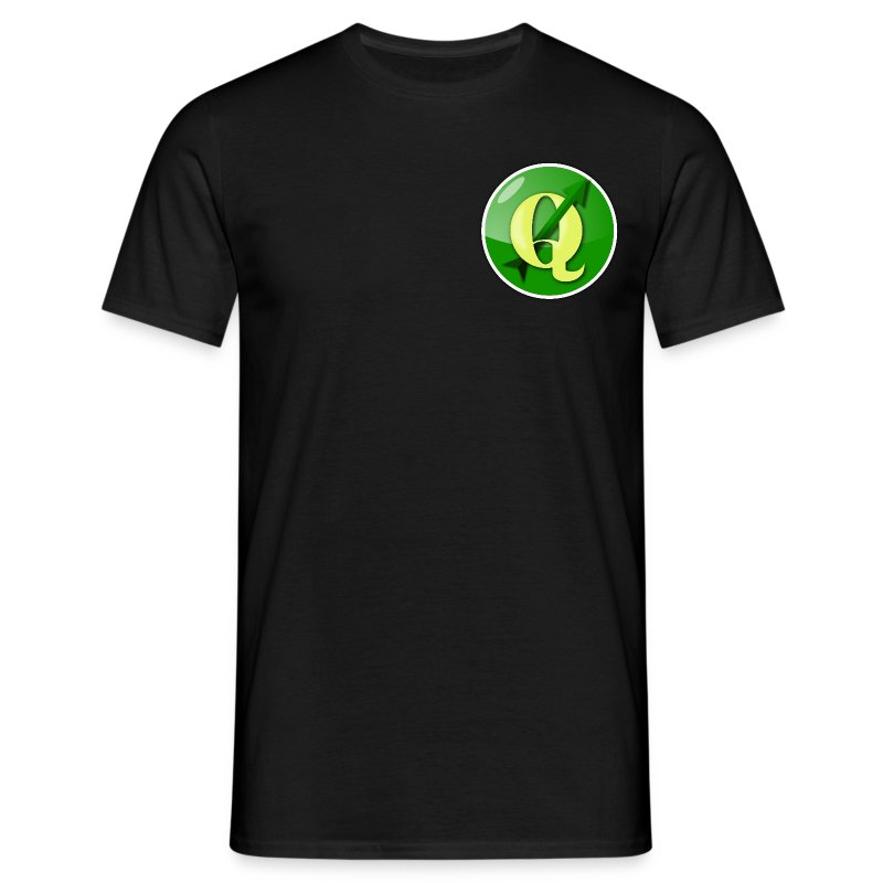 Men's T-shirt with QGIS logo on the front & back - Men's T-Shirt