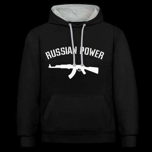 ~Russian Power~ - Kontrast-Hoodie
