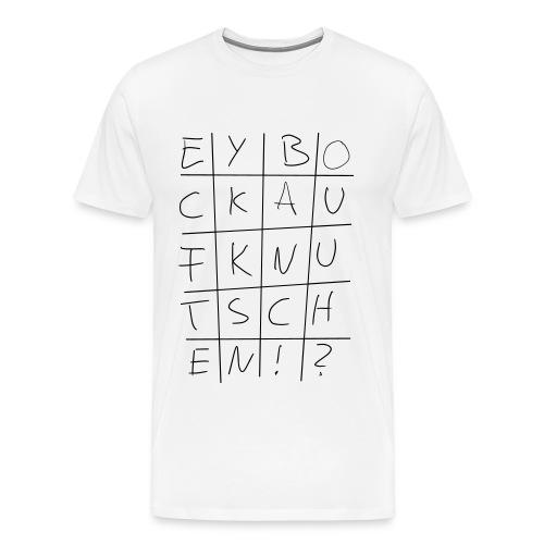 Bock auf Knutschen? White Boy - Männer Premium T-Shirt