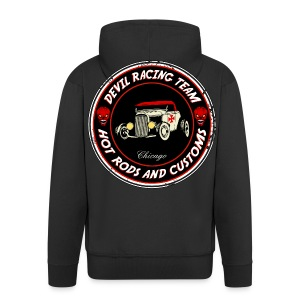 Devil racing team 01 - Men's Premium Hooded Jacket