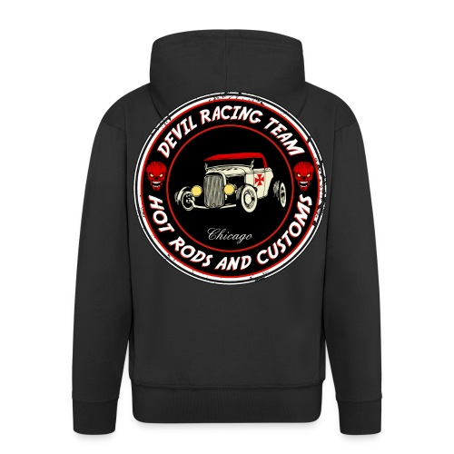 Devil racing team 01 - Men's Premium Hooded Jacket