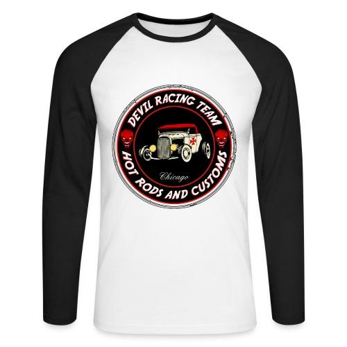Devil racing team 01 - Men's Long Sleeve Baseball T-Shirt