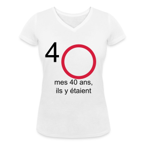 Tshirt à signer  : Mes 40, ils y étaient - Tee shirt col V Femme