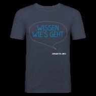 T-Shirts ~ Männer Slim Fit T-Shirt ~ Wissen wie's geht 2farbig