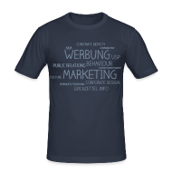 T-Shirts ~ Männer Slim Fit T-Shirt ~ Marketing Cloud beidseitig