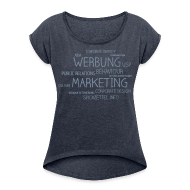 T-Shirts ~ Frauen T-Shirt mit gerollten Ärmeln ~ Marketing Cloud beidseitig