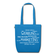 Taschen & Rucksäcke ~ Bio-Stoffbeutel ~ Marketing Cloud beidseitig