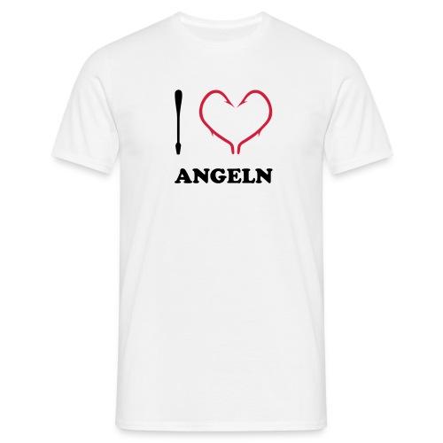I Love Angeln zweifarbig T-Shirts - Männer T-Shirt