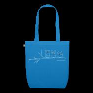Taschen & Rucksäcke ~ Bio-Stoffbeutel ~ Eulen 3farbig