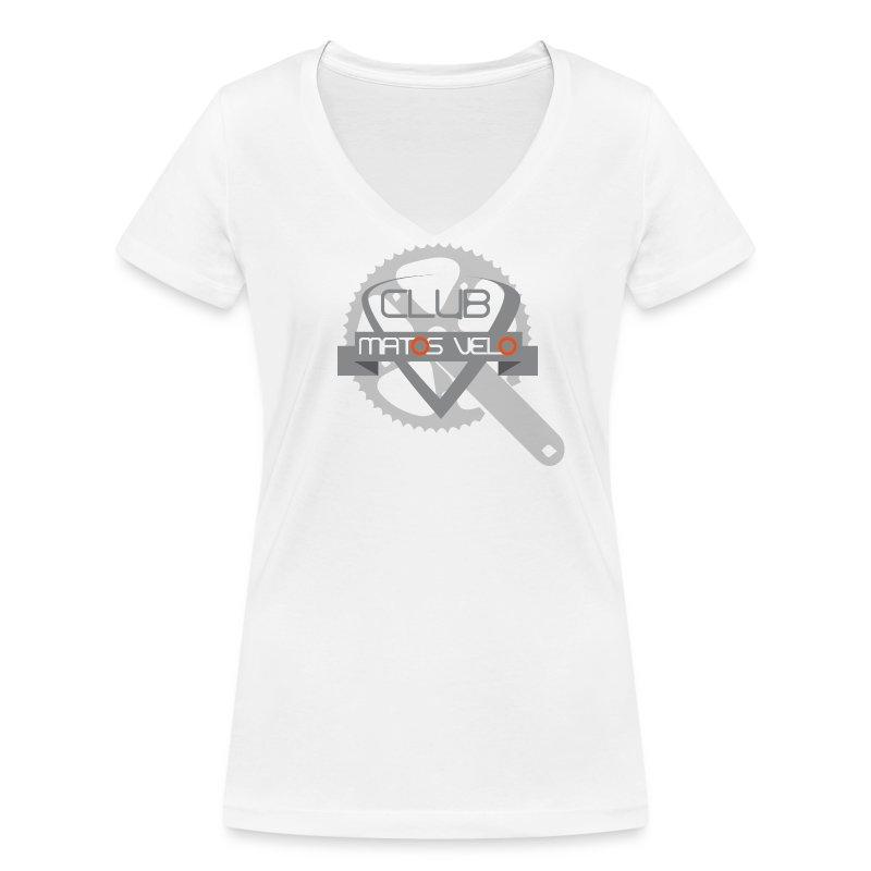 T-shirt femme club MV pedalier - T-shirt bio col V Stanley & Stella Femme
