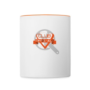 Tasse club MV pedalier orange - Tasse bicolore