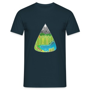 Navy nature T-shirts - Mannen T-shirt
