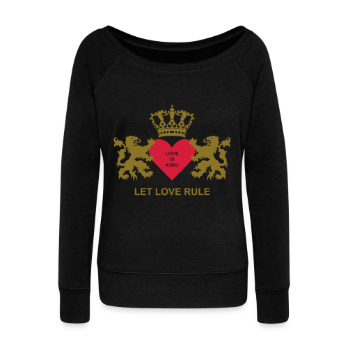 Love Is King wapenschild - Vrouwen trui met U-hals van Bella