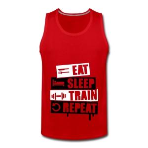 Train Hard - Shirt - Männer Premium Tank Top