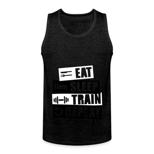 Train Hard - Shirt - Männer Premium Tank Top