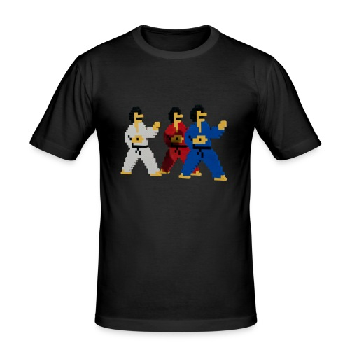 8-bit trip ninjas  1  - Men's Slim Fit T-Shirt