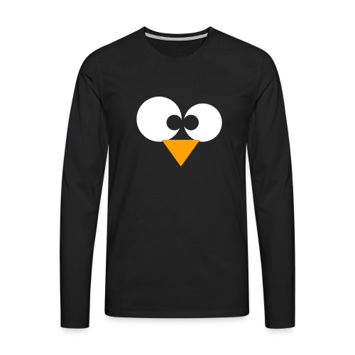Linux, ZWART - Mannen Premium shirt met lange mouwen