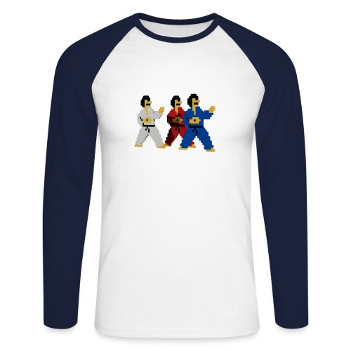 8-bit trip ninjas  1  - Men's Long Sleeve Baseball T-Shirt