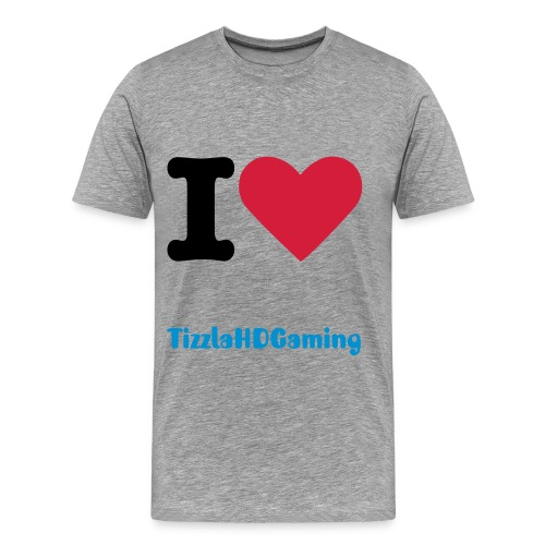 Premium!  I love TizzlaHDGaming - T-shirt Mann - Premium T-skjorte for menn