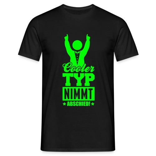 Cooler Typ nimmt Abschied (md) - Männer T-Shirt