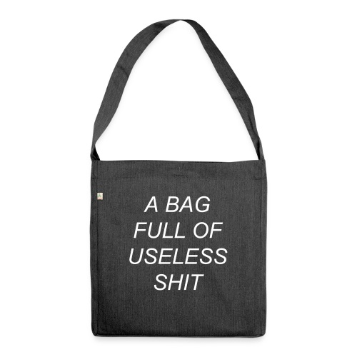 USELESS SHIT BAG - Skuldertaske af recycling-material