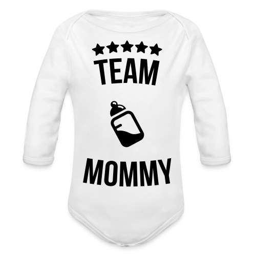Team Mommy Toddler Body - Ekologisk långärmad babybody