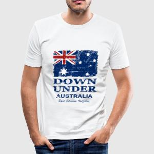 Down Under - Vintage Look  T-shirts - Slim Fit T-shirt herr