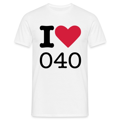 i love 040 - Mannen T-shirt