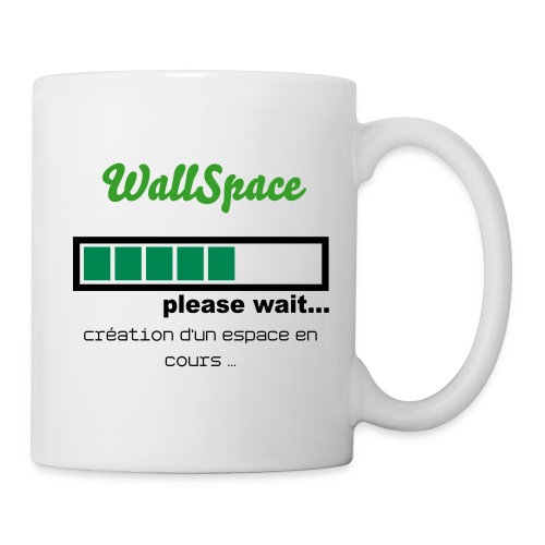 Tasse Blanche - WallSpace + Please Wait - Mug blanc