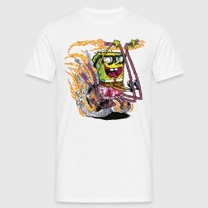 Mens' Shirt SpongeBob on crazy wheels - Koszulka męska