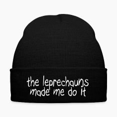 the leprechauns made me do it Caps & Hats
