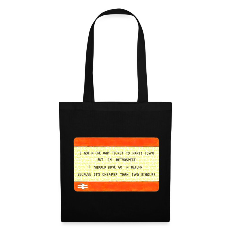One Way Ticket to Party Town Tote Bag - Tote Bag