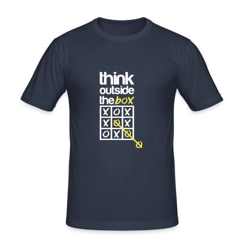 Think outside the box  - T-shirt près du corps Homme