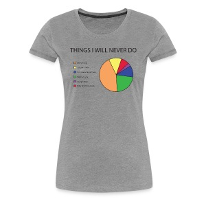 Things I Will Never Do Pie Chart T-Shirts - Women's Premium T-Shirt