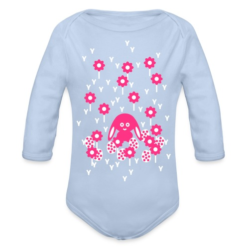 Baby Body Hase, Ostern - Organic Longsleeve Baby Bodysuit