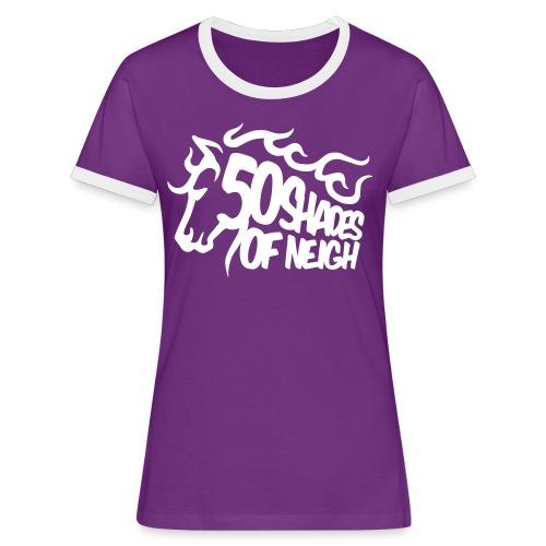 T-Shirt - Frauen Kontrast-T-Shirt