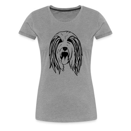 Bearded Collie Shirt - Frauen Premium T-Shirt
