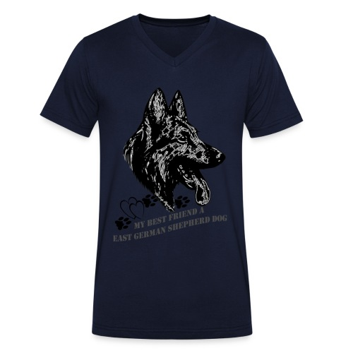 DSH-Kopf - Männer Bio-T-Shirt mit V-Ausschnitt von Stanley & Stella