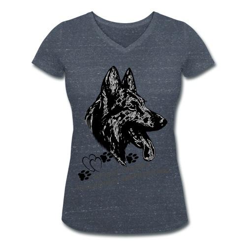 DSH-Kopf - Frauen Bio-T-Shirt mit V-Ausschnitt von Stanley & Stella