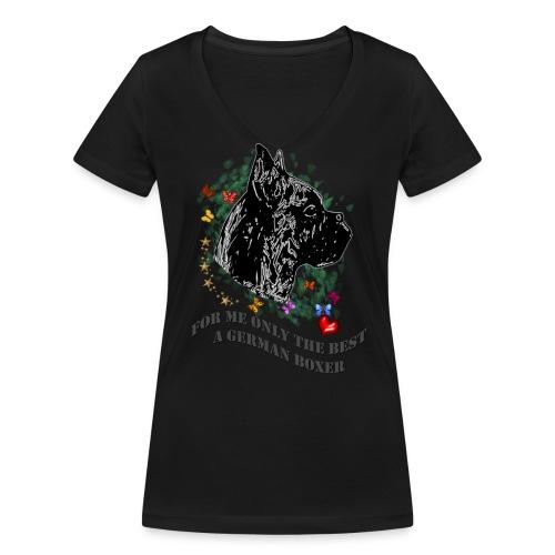 Boxer-Profil - Frauen Bio-T-Shirt mit V-Ausschnitt von Stanley & Stella