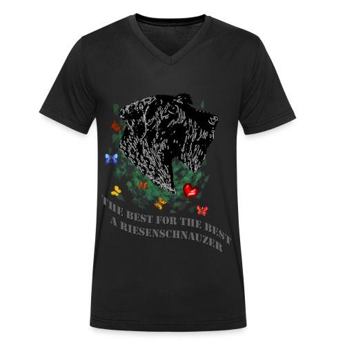 Schnauzer-Profil - Männer Bio-T-Shirt mit V-Ausschnitt von Stanley & Stella
