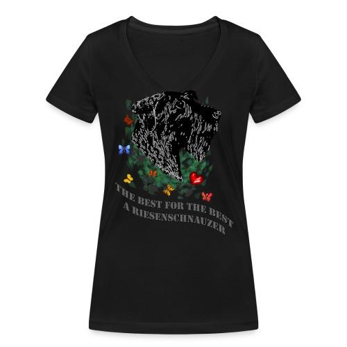 Schnauzer- Profil - Frauen Bio-T-Shirt mit V-Ausschnitt von Stanley & Stella