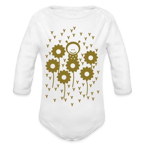 Baby Body Mkäfer, Gold - Organic Longsleeve Baby Bodysuit