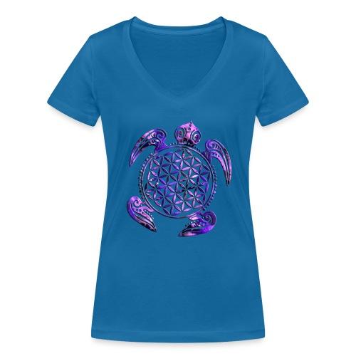 Blume des Lebens - Damen T-Shirt mit V-Ausschnitt - Frauen Bio-T-Shirt mit V-Ausschnitt von Stanley & Stella