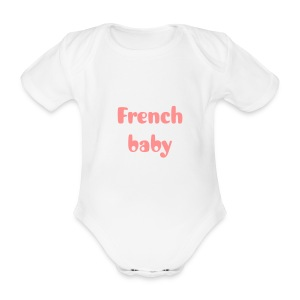Body french baby - Body bébé bio manches courtes