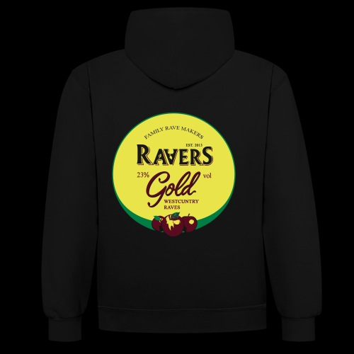 RAVERS GOLD HOOD - Contrast Colour Hoodie