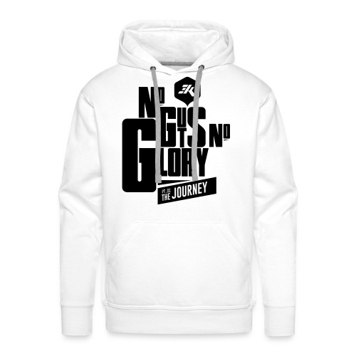 NGNG: BLACK / White - Men's Premium Hoodie