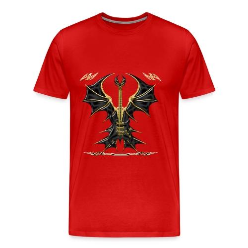 GUITARE POWER ENFER - T-shirt Premium Homme